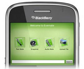 Evernote 3.3.333 beta para BlackBerry trae notas offline