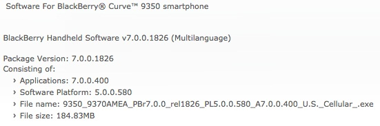 OS 7.0.0.400 oficial para BlackBerry Curve 9530 via US Cellular