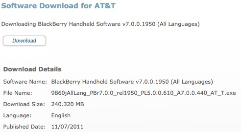BlackBerry OS 7.0.0.440 oficial para Torch 9860