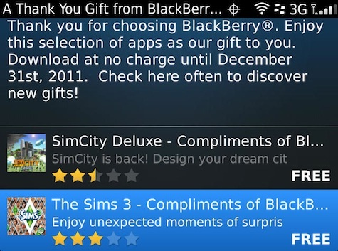 Descarga gratis Sim City Deluxe y Sims 3 para BlackBerry