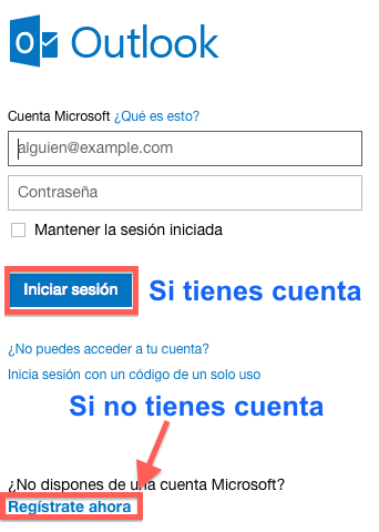 iniciar sesion outlook.com
