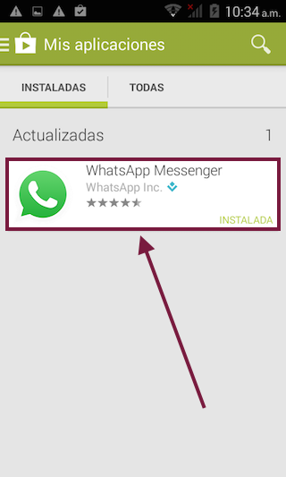WhatsApp Messenger actualizar