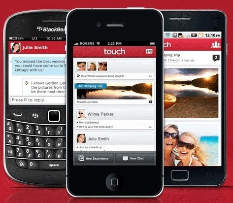 PingChat (ahora llamado Touch) para chatear entre iPhone, Android y BlackBerry