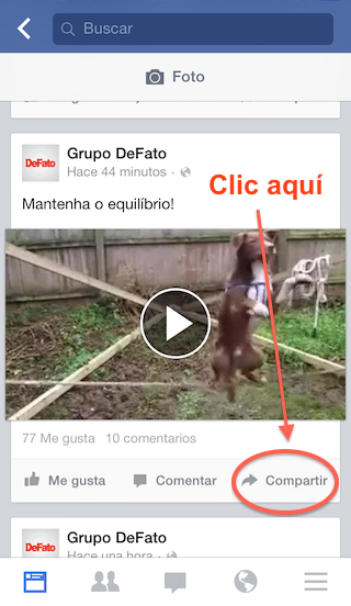1 - Descargar videos Facebook - Instagram - iPhone - Copia el enlace del video - 1