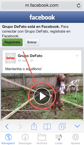 8 - Descargar videos Facebook - Instagram - iPhone - Reproduce el video - 1